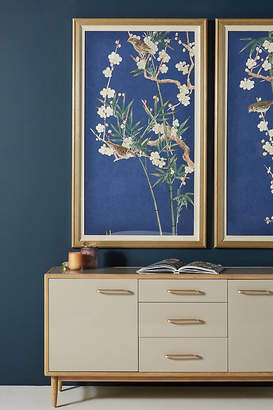 Anthropologie Branch in Bloom Wall Art By in Blue Size L