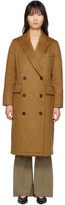 The Loom Tan Mohair and Wool Double Coat
