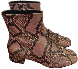 Gucci \N Pink Python Boots