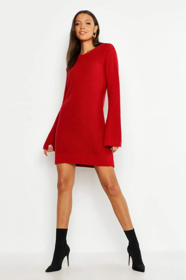 b8c7845ecfd7 Red Knit Jumper Dress - ShopStyle UK