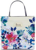 Harrods Small Tropical Floral Shopper Bag
