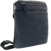 Versace Ee1yobb22 E240 Navy Blue Embossed Mens Messenger Bag.