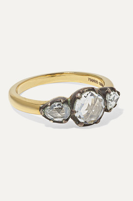 Fred Leighton Collection 18-karat Gold And Sterling Silver Diamond Ring
