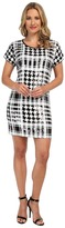 MICHAEL Michael Kors Sequin Hounds/Plaid Dress