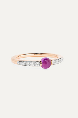 Pomellato M'ama Non M'ama 18-karat Rose Gold, Diamond And Amethyst Ring
