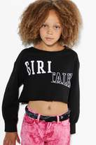 boohoo Girls Girl Gang Sweat Top