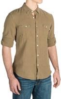 Timberland Linen Cargo Shirt - Long Sleeve (For Men)