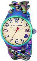 Betsey Johnson Women's 97L125 Analog Display Analog Quartz Gold Watch