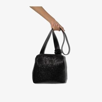 Osoi Black Brot wrinkled leather shoulder bag