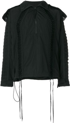 Kokon To Zai Deconstructed Lace-Up Jacket