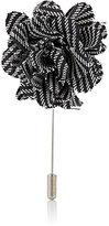 Lanvin Men's Striped Rose Tiepin-WHITE