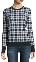 Equipment Shane Plaid Wool Sweater, Ivory Multi