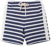 Il Gufo Striped Cotton Sweat Shorts