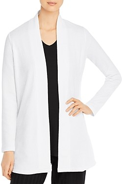 Eileen Fisher Cotton-Blend Open-Front Cardigan