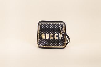 Gucci Guccy Logo Moon & Stars Leather Crossbody Bag