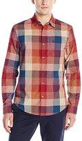 Original Penguin Men's Long Sleeve Slubby Bold Plaid Button Down Shirt