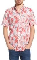 Vineyard Vines Flowers & Leaves Classic Fit Print Short Sleeve Sport Shirt