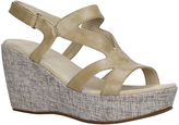Antelope Natural & Charcoal Cutout Leather Wedge Sandal