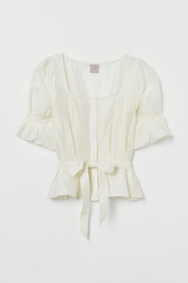H&M Glossy blouse