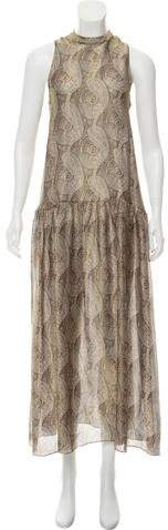 Vilshenko Silk Floral Print Dress