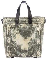 Balmain Leather-Trimmed Canvas Tote