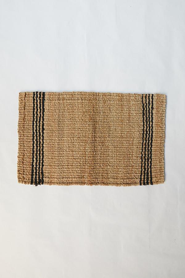 Vertical Stripe Jute Doormat By Terrain in Assorted Size L