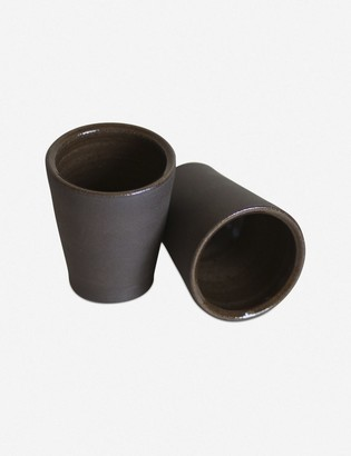 Lulu & Georgia Shivan Flared Tumbler, Raw Black Clay