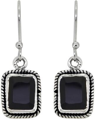 Nitya Dainty Black Onyx Sterling Silver Dangle Earrings