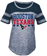 5th & Ocean Houston Texans Space Dye Foil Heart T-Shirt, Girls (4-16)