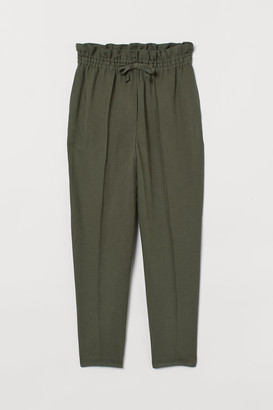 H&M Pull-on linen-blend trousers