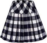 Urban CoCo Women's High Waist Pleated School Tartan Mini Plaid Skirts (L, )