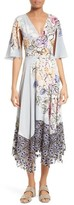Tracy Reese Women's Silk Mixed Media Midi Dress