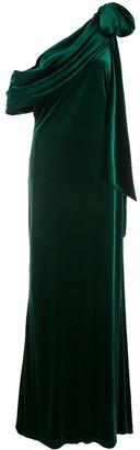 Tadashi Shoji Alvar velvet evening gown