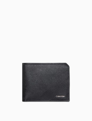 Calvin Klein Matte Saffiano Leather Coin Pouch Wallet