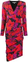 Veronica Beard floral print ruched dress