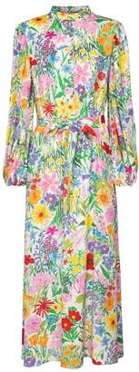 Gucci x Ken Scott floral silk twill maxi dress