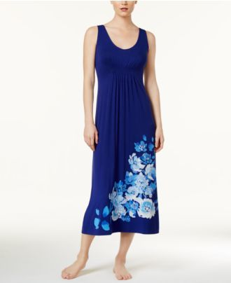 Alfani Floral-Print Knit Nightgown, Created for Macy's