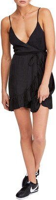 Free People All My Love Shine Wrap Minidress
