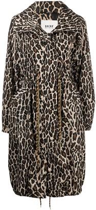 Bazar Deluxe Leopard Print Zip-Up Raincoat
