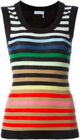 Sonia Rykiel striped tank top - women - Silk/Cotton - M