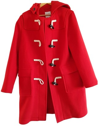 Uniqlo Red Cotton Coat for Women