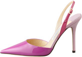 Jimmy Choo Volt Patent Pointed Slingback, Orchid/Cyclamen