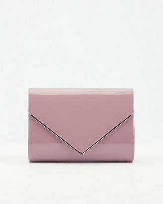 Le Château Patent Faux Leather Flapover Crossbody Bag