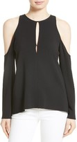 Theory Women's Sarver Cold Shoulder Crepe Top