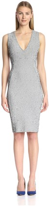 Twenty Tees Women's Static Micro Stripe Sheath Dress