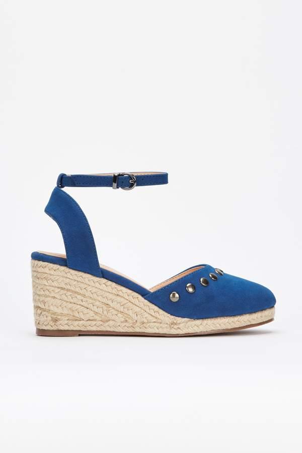 Walliswallis Sandal Light Studded Blue Wedge EYHIeWD92