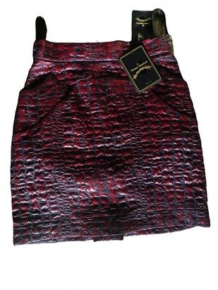 Vivienne Westwood Burgundy Silk Skirt for Women
