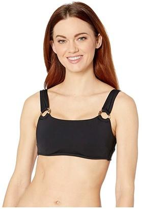 Seafolly Active DD Cup Tank Bikini Top (Black) Women's Swimwear