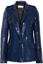Sonia Rykiel Sequined Crepe Jacket - Storm blue