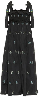 Cecilie Bahnsen Mika smocked taffeta midi dress